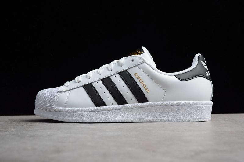 Giày Adidas Superstar trắng sọc đen GAS01