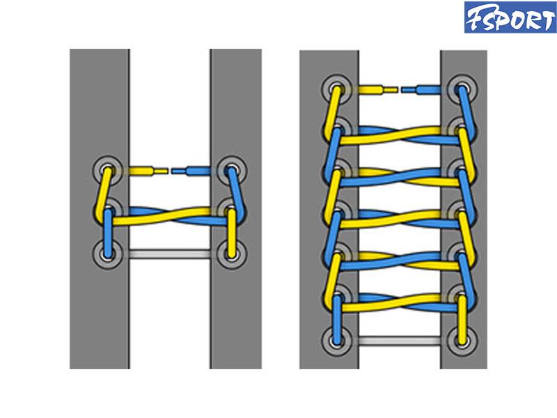 cách buộc dây giày dep