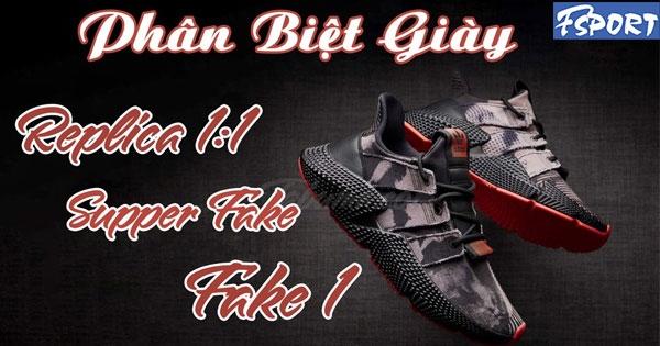 So sánh chất lượng của giày Replica, giày Super Fake & Fake 1