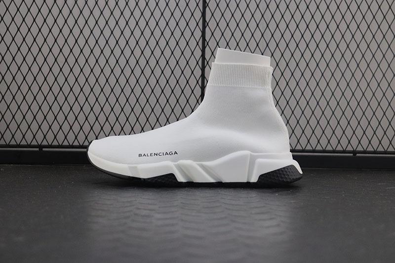 Giày Balenciaga Speed Trainer trắng viền đen BST02