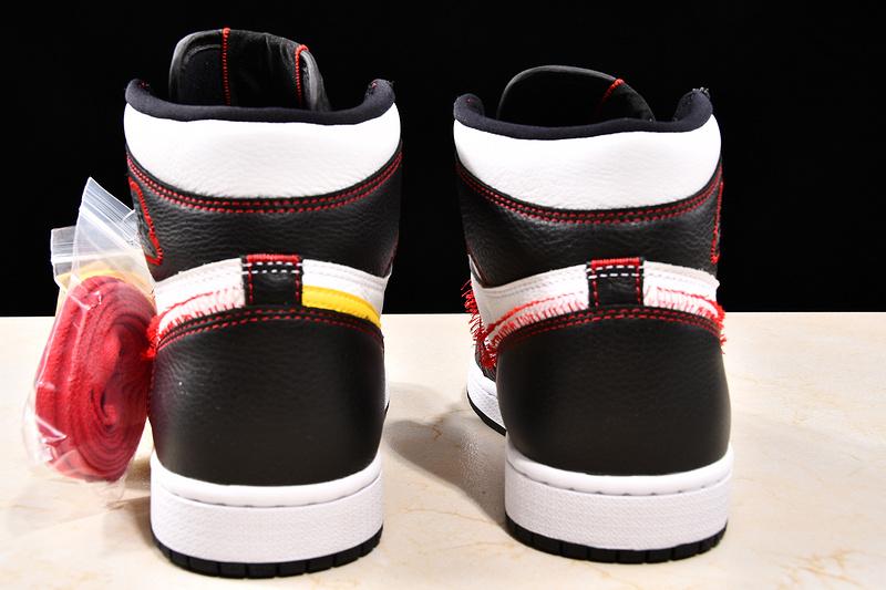 Nike Air Jordan 1 Retro High Defiant White Black Gym Red NAJ22