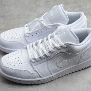Giày Nike Air Jordan 1 Low Triple White NAJ43