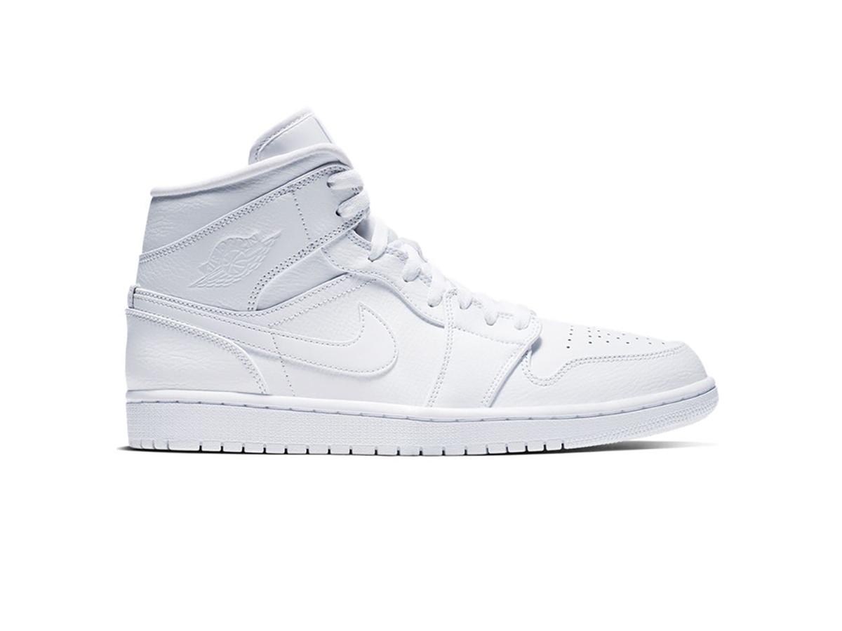 Giày Nike Air Jordan 1 Mid Triple White NAJ27