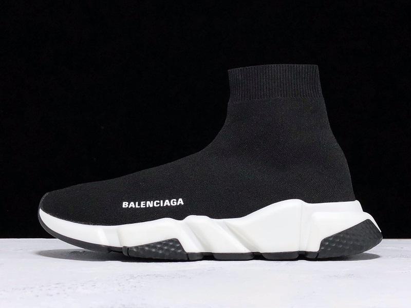 Giày Balenciaga Speed Trainers black white BST03