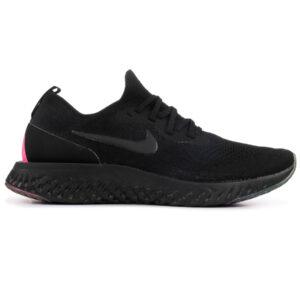 Giày Nike Epic React Flyknit đen gót đỏ NE04