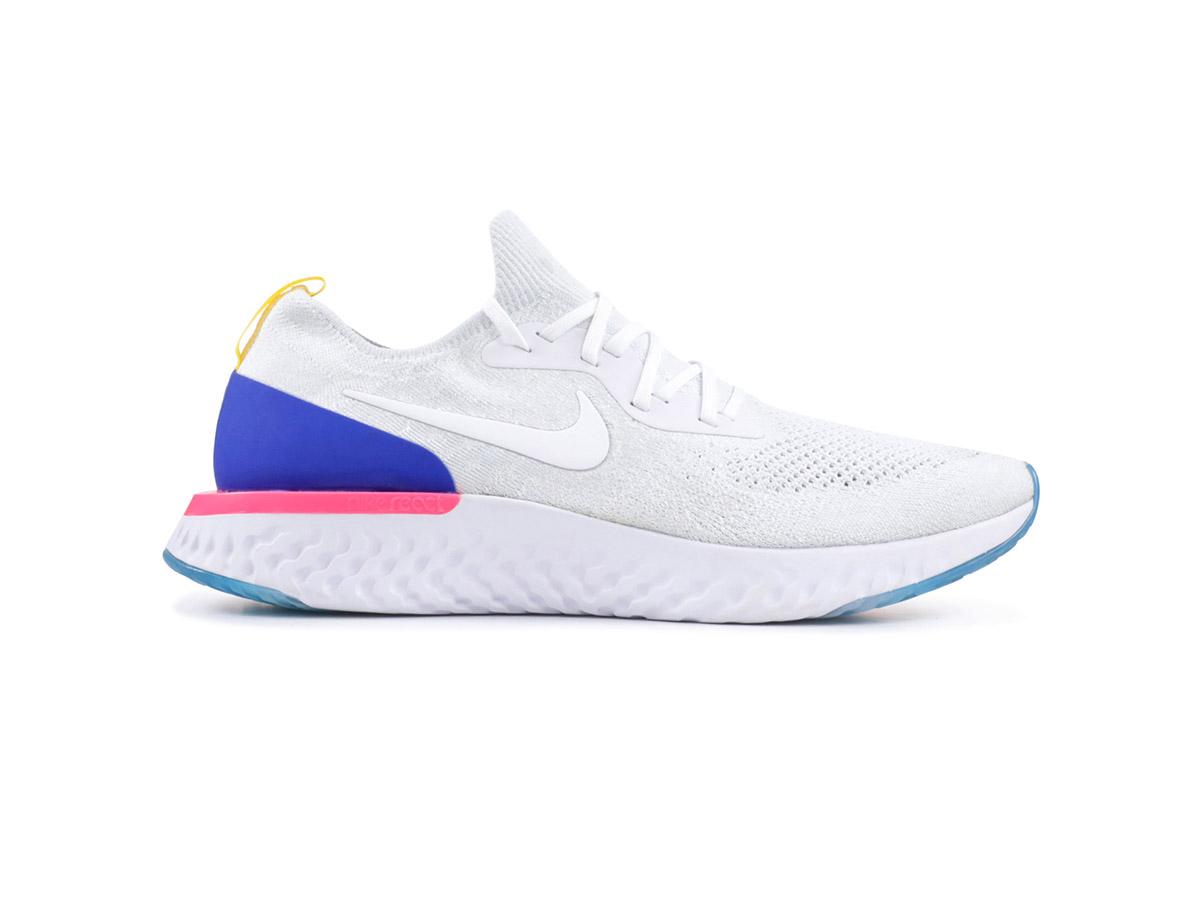 Giày Nike Epic React Flyknit trắng xanh NE03