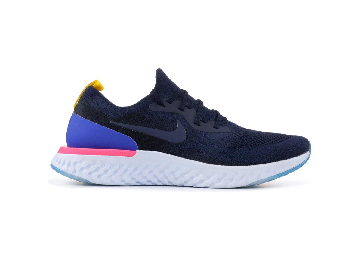 Giày Nike Epic React Flyknit xanh ghi NE01