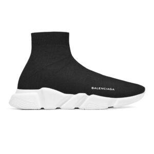 Giày Balenciaga Speed Trainer đen đế trắng BST04