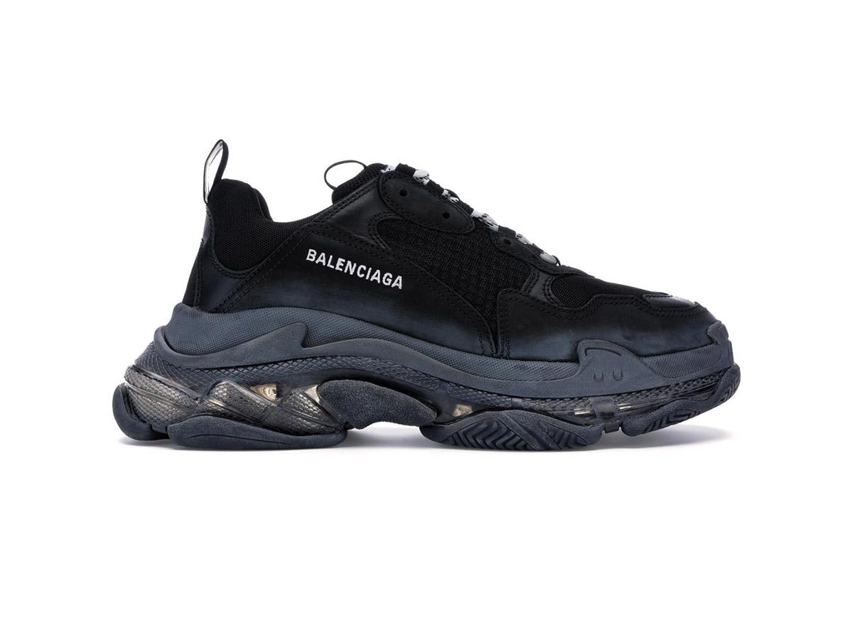 Giày Balenciaga Triple S Clear Sole Black BTS08