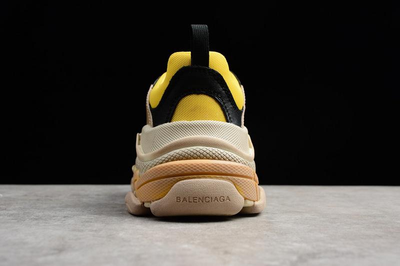 Giày Balenciaga Triple S xanh vàng BTS06