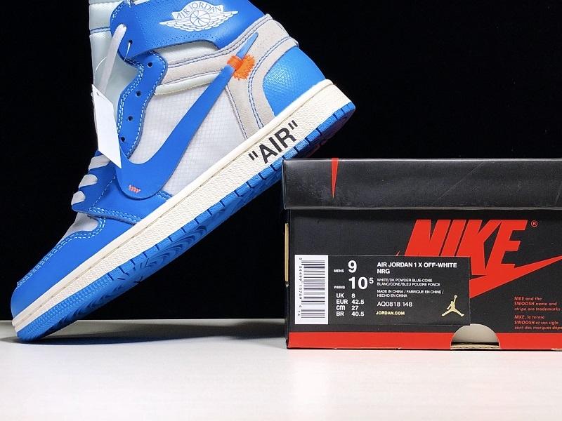 Giày Nike Air Jordan 1 Off White Blue NAJ49
