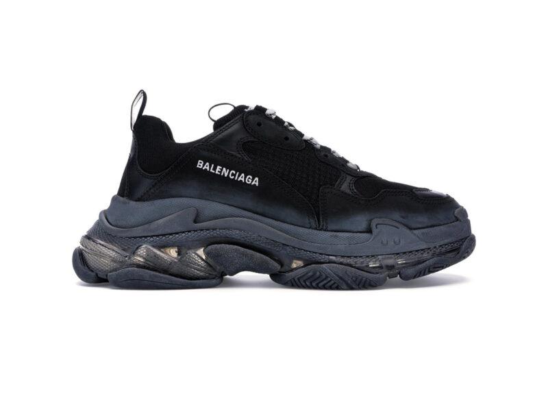 Giày Balenciaga Triple S Clear Sole Black BTS02