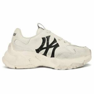 Giày MLB NY chữ đen Dirty MLB03