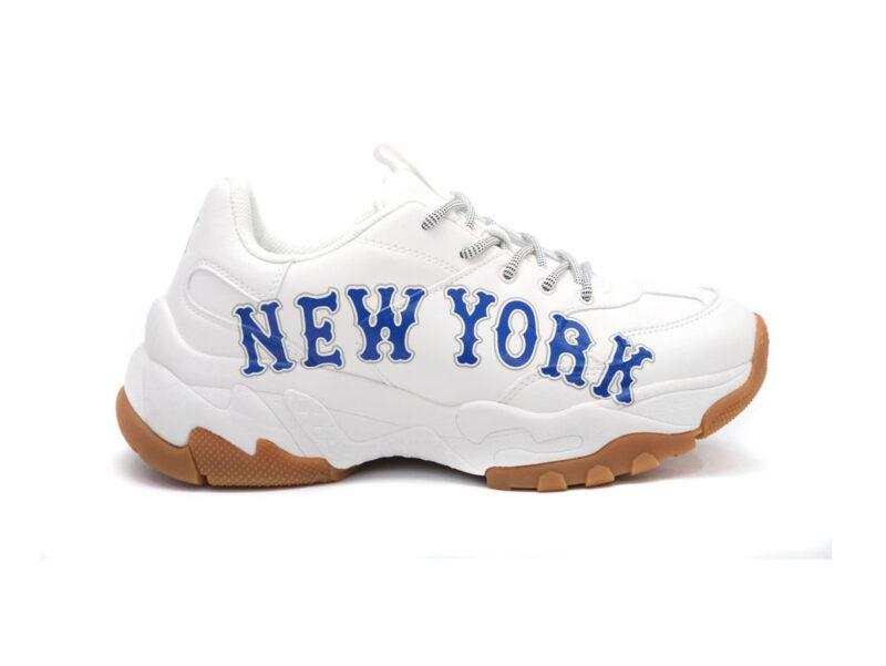 Giày MLB New York trắng chữ xanh MLB14