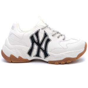 Giày MLB NY trắng chữ đen MLB12