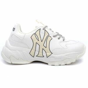 Giày MLB NY trắng chữ vàng MLB13