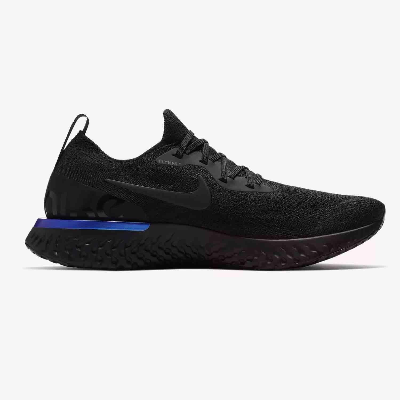 Giày Nike Epic React Flyknit đen basic, dễ phối đồ