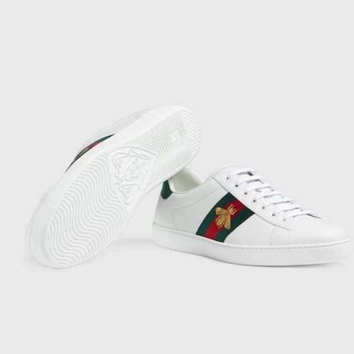 Gucci Ace Embroidered Sneaker màu trắng nhẹ nhàng