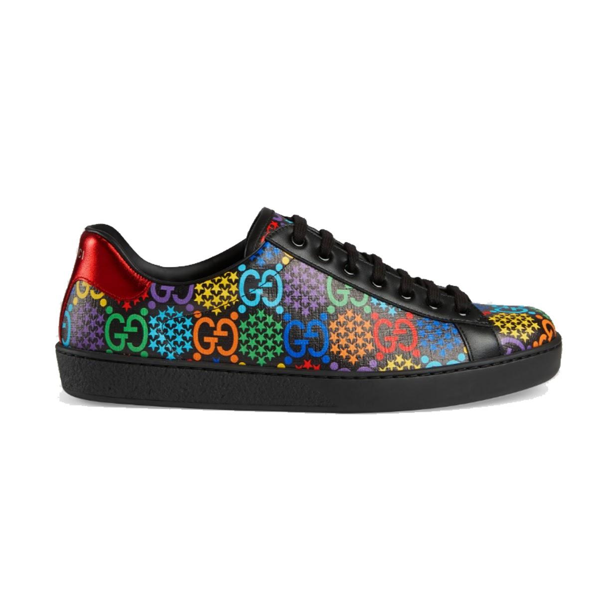 Gucci Men's GG Psychedelic Ace sneaker mang màu sắc nổi bật