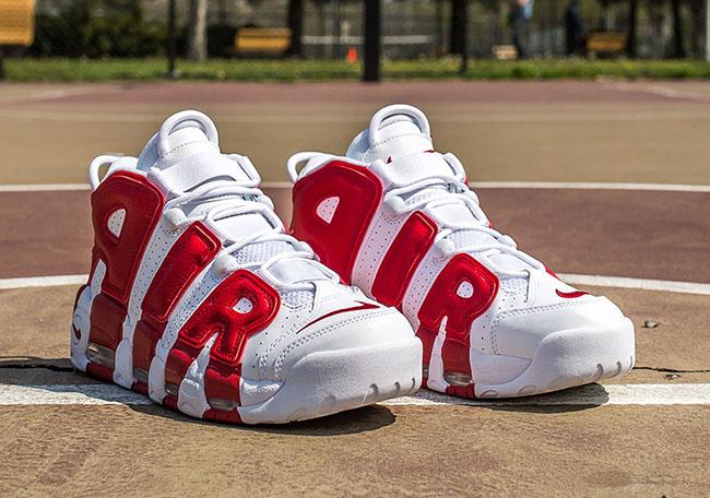 Giày Nike Air Uptempo Red and White năng động và trẻ trung